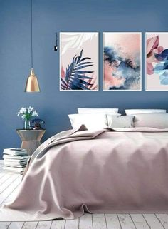 Pale Blue Bedrooms, Blue Girls Rooms, White Bedroom, Bedroom Color Schemes, Bedroom Colors, Bedroom Decor, Bedroom Ideas, Bed Ideas, Bedroom Furniture