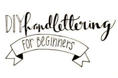 DIY Hand Lettering For Beginners by Brigid Donelly