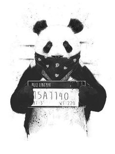 Bad Panda Poster by Balazs Solti. All posters are professionally printed, packaged, and shipped within 3 - 4 business days. Choose from multiple sizes and hundreds of frame and mat options. Panda Wallpaper Iphone, Panda Wallpapers, Mobile Wallpaper, Panda Art, Dope Art, All Poster, Posters, Freelance Illustrator, New Art