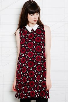Contrast Collar Dress in Tile Print £48 by Cooperative from Urban Outfitters