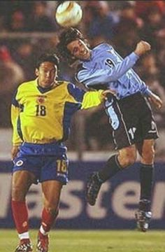 Uruguay 2 Colombia 1 in 2004 in Luzco. Jorge Martinez beats Abel Aguilar in the air in the 3rd place play-off at Copa America.