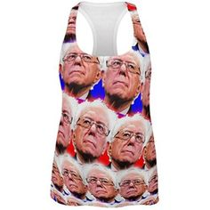 Election Bernie Sanders Face the Future 2016 All Over Womens Racerback Tank Top - 2X-Large, Women's, Size: XXL, Multi