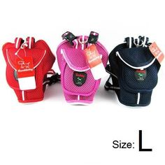 Large Dog Backpack with Leash-Colors Red