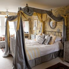 Grand yellow and grey bedroom - oh my oh my....I think my big girl would LOVE this in the next house