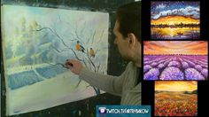 How to paint Christmas Oil Painting - Bullfinches ★ Step by Step ★ Valer...