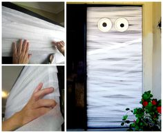 An easy Halloween craft you can make with the kids - a Mummy door.
