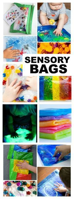 SENSORY BAGS GALORE! The ultimate list! Tons of great ideas here!!!