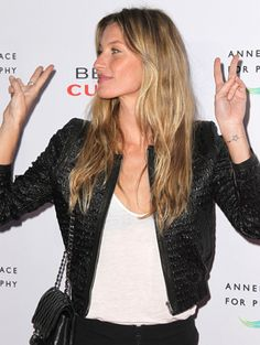 Model Ink: Celebrity Supermodels Show Off Their Tattoos and Body Art - Gisele Bündchen