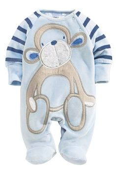 Buy Blue Monkey Velour Sleepsuit (0-18mths) from the Next UK online shop