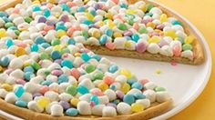 Delight your family with a simple Pillsbury® Create n Bake® cookie crust topped with the colors of spring.