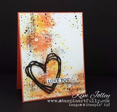 Stampin Artfully: Valentine's Card with a Grunge Twist (video tutorial included!)