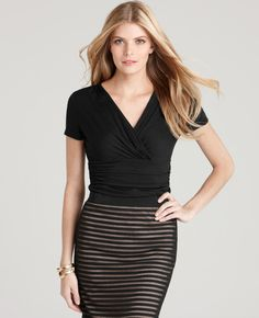 Ann Taylor. I need to add some empire waist tops to my wardrobe. Good for my apple shaped body.