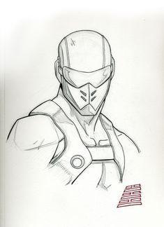Quick pencil/ink sketch of the G.Joe's Snake Eyes with his Resolute look. I love this version of Snake Eyes (and Resolute in general). So thanks again to (and the whole Resolute Team) for their w. Character Design Animation, Character Drawing, Comic Character, Snake Eyes Gi Joe, Comic Art, Comic Books, Snake Drawing, Military Drawings, Sports Graphic Design