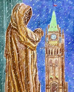 Supreme Court of Canada & The Peace Tower Ottawa Access to Prints, Original, or Digital Suzanne Berton © www. Ottawa Canada, Canadian Art, Supreme Court, Tower, Peace, Prints, Painting, Computer Case, Painting Art