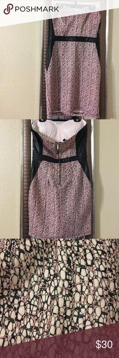 Black/rose Black/rose dress with leather on the sides Brand: 2B bebe Dresses Strapless