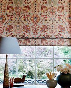 Farrow And Ball Living Room, Persian Motifs, Boho Bedding, Ferrat, Curtain Designs, Fabric Wallpaper, Drapes Curtains, Valances, Tile Design
