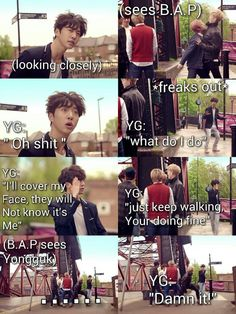 Shy Yongguk ;D sorry about the badwords it was just so funny I had to repin it. #BAP #Kpop #funny