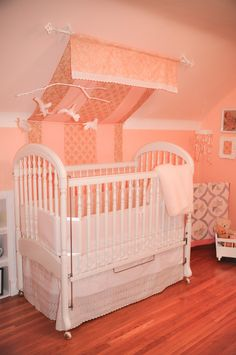Peaches and Creme Nursery, Made with Love | Project Nursery @nikki striefler Lux but turn the crib the other way :)