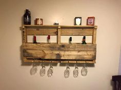 Fat Evan's Pallet Wine Rack by FatAndShabby on Etsy