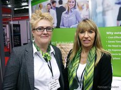 We met lovely Therese and Jackie from A.S.A.P #business #services wearing their #uniform #green #silk #scarves at The Business Show, #Olympia . #silkscarf #scarfstyling #scarfweather #thebusinessshow #trend #styling #style #realpeople #womeninuniform #London #citygirl #businesswear #businesswoman #real #tbs2015