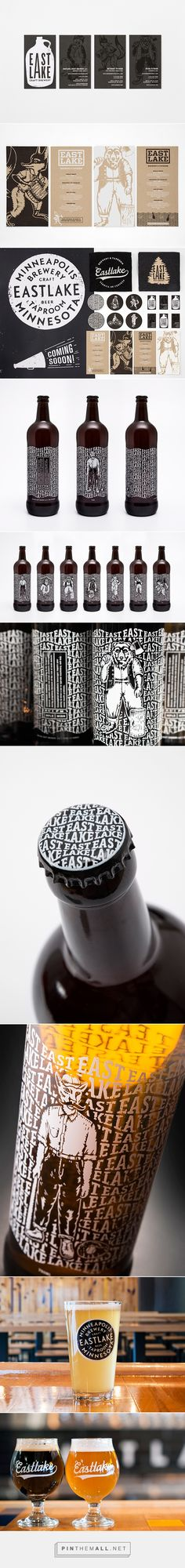Eastlake Craft Brewery packaging branding on Behance by Rice Creative curated by Packaging Diva PD. Who wants a glass of beer now? #packaging #design #branding