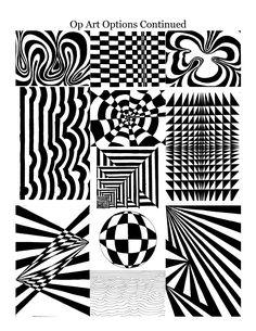 Optical Illusions Art! Art 8 - Art in Room A124