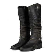 Boots Rosebowl ($1,327) ❤ liked on Polyvore featuring shoes, boots, botas, black, sapatos, round toe boots, black riding boots, genuine leather riding boots, leather boots and black leather shoes