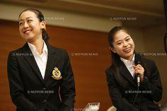 Mao Asada, Satoko Miyahara, October 06, 2013 :  Grand Prix of Figure Skating 2013/2014 NHK Trophy,  at Grand Prince Hotel ...
