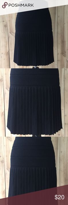 "Womens MNG Half Pleated Skirt NWT - Black skirt, never worn, Approx meas are: L - 20"" (approx 9.5"" waist to pleated section- 10.5"" pleated to hem)  Waist Flat - approx 14.5"" MNG Skirts"
