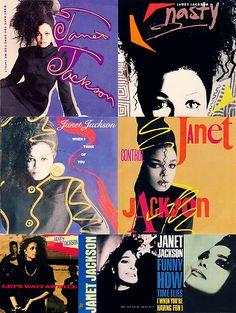 janet jackson, 1980s, graphic design, typography, album art