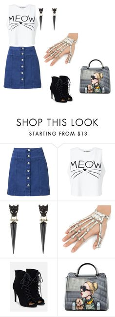 """""""UNUSUAL"""" by betulx on Polyvore featuring moda, Witchery, Miss Selfridge, Alexis Bittar, JustFab ve unusual"""