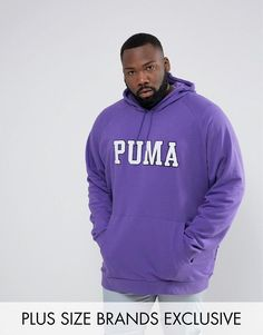 Get this Puma's hooded sweatshirt now! Click for more details. Worldwide shipping. Puma PLUS Skate Hoodie With Large Logo In Purple Exclusive to ASOS 57659001 - Purple: Hoodie by PUMA PLUS, Soft-touch sweat, Drawstring hood, Over-the-head style, Pouch pocket, Fitted trims, Regular fit - true to size, Machine wash, 68% Cotton, 32% Polyester, Our model wears a size XXXL and is 185.5cm/6'1 tall, Exclusive to ASOS. Sportswear giants PUMA have been in the game since 1948, producing quality…