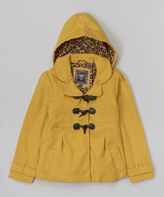 Love this Gold Toggle Hooded Swing Coat - Infant, Toddler & Girls by YMI Kids on #zulily! #zulilyfinds