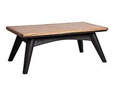 Mesa de centro de madera - negro y marrón envejecido