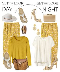 """Spring Day to Night"" by glamorous09 ❤ liked on Polyvore featuring Toast, Birkenstock, Melissa Odabash, Chico's, MICHAEL Michael Kors, H&M, Kayu, Kenneth Jay Lane and daytoevening"