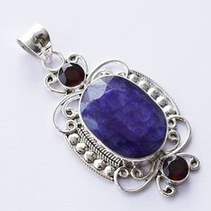 "2.59"" Sapphire (Sillimanite)  Pendant Handmade Gemstone Jewelry With Sterling Silver Metals DCTP-184 by RavishingImpressions on Etsy https://www.etsy.com/listing/162837394/259-sapphire-sillimanite-pendant"
