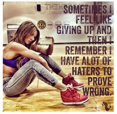 Paige Hathaway... Ok i dont think i have haters really, but there is always someone who is jealous, so it just gives u more ambition