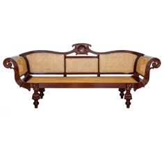 Anglo-Indian or British Colonial Mahogany Sofa | From a unique collection of antique and modern furniture at https://www.1stdibs.com/furniture/asian-art-furniture/furniture/
