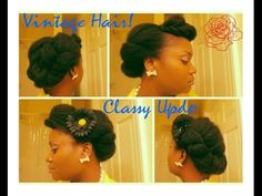 ▶ {141} 4c Natural Hair: Sophisticated Soft Twist Updo - YouTube