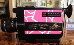 Pink Giraffe Pattern for the Rhonda CAM Super 8 Camera www.pro8mm.com Super 8 film