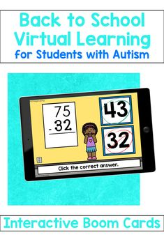 10 interactive Boom decks for virtual learning.  Includes addition and subtraction with touch points.  Boom cards are great for students with autism. #autismclassroom #specialeducation Autism Classroom, Special Education Classroom, Math Addition, Addition And Subtraction, Touch Math, September Activities, Fact Families, Math Skills, Learning Resources