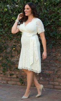 Find More Wedding Dresses Information about Plus Size Wedding Dresses Sleeves 2015 Sheath Bridal Gowns with Ribbon Simple White Lace Short Knee Length Wedding Dress Garden,High Quality dress show,China gown red Suppliers, Cheap gown protector from Free People on Aliexpress.com