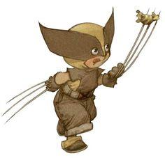 Little Heroes, uma série de ilustrações de super-heróis bebês projetado pelo designer francês talentoso Alberto Varanda ! Descubra Hulk, Bat...