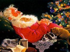 Kerstman Slapen