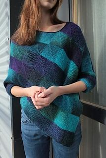 Knitting Pattern Name: Domino Squares Poncho Pattern by: Viktoria Petrova
