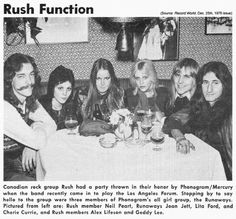 Rush partying with the Runaways