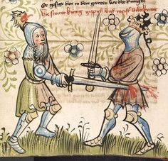 """Fights in """"Der Einritt der Recken in Worms"""" 1418"""