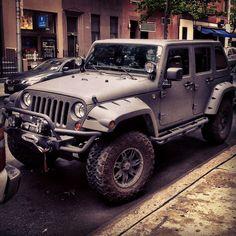 Bushwacker Pocket Style Flares on a Jeep JK in NYC.