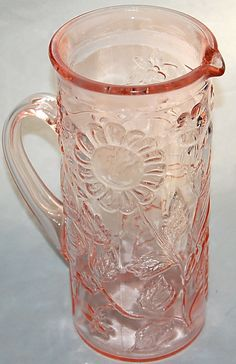 Depression glass pitcher