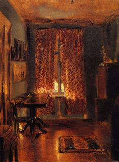 By German painter Adolph Menzel.  1815-1905